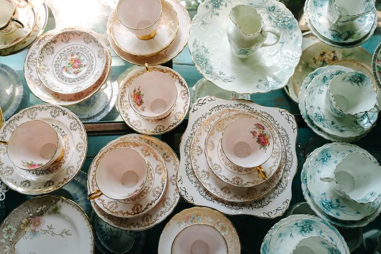 Antique Porcelain Tea Cup Collection